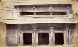 [Facade of a room with verandah in the] Man Mandir Palace, [Gwalior] 9428